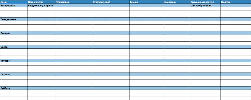 Как создать контент-план для социальных сетей (+шаблон)